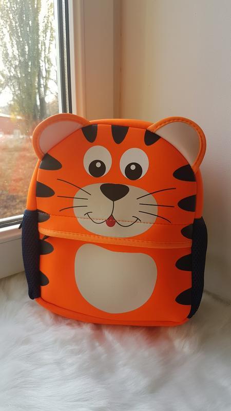 Детский рюкзак с тигренком оранжевый / рюкзак с животными