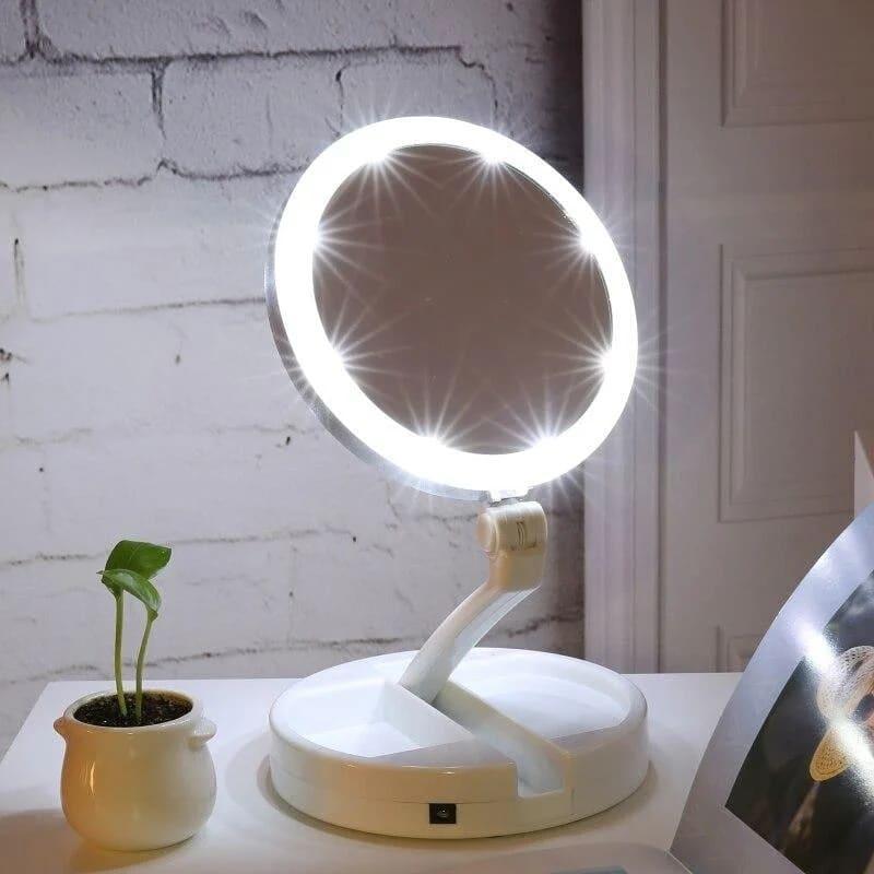 Настольное зеркало для макияжа с led подсветкой.