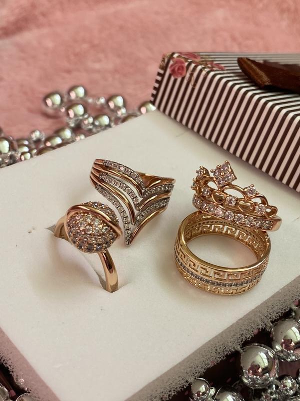 Кольцо кольца набор лот корона круг каблучка мед сплав позолот...