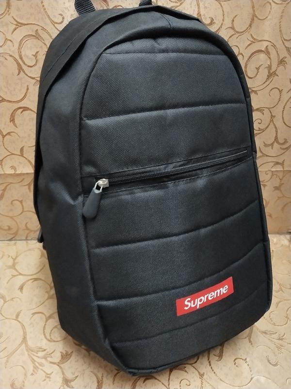 Черный молодежный, поседневний,  городской рюкзак supreme