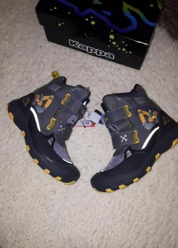 Термо ботинки kappa 34 с мигалками