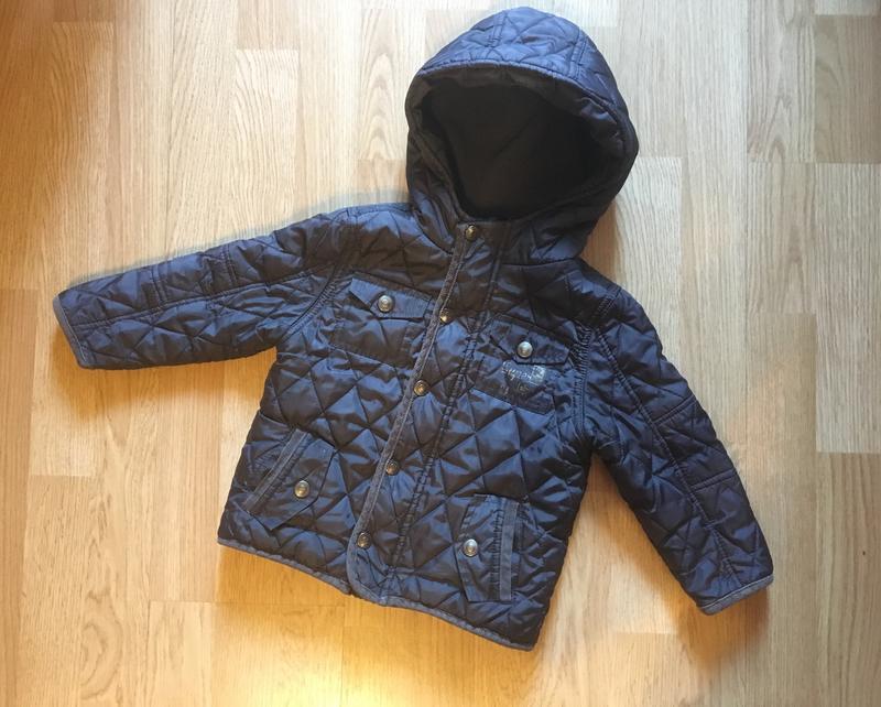 Демисезонная стеганая куртка, курточка для мальчика f&f, р. 1,...