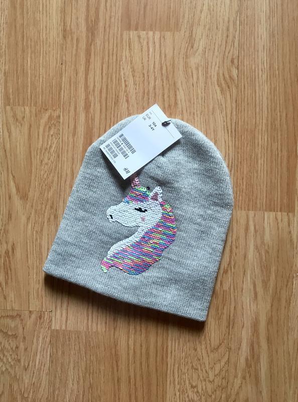 Стильная и красивая шапка, шапочка для девочки h&m, размер 3-4...