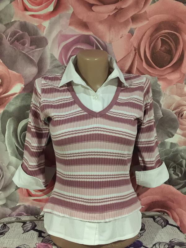 Рубашка\реглан -обманка, для девочки 13 лет