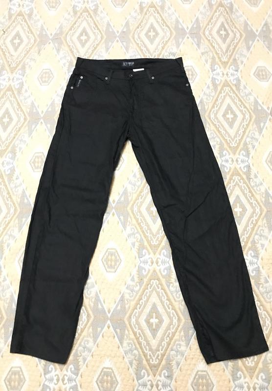 Чёрные повседневные брендовые штаны Armani Jeans