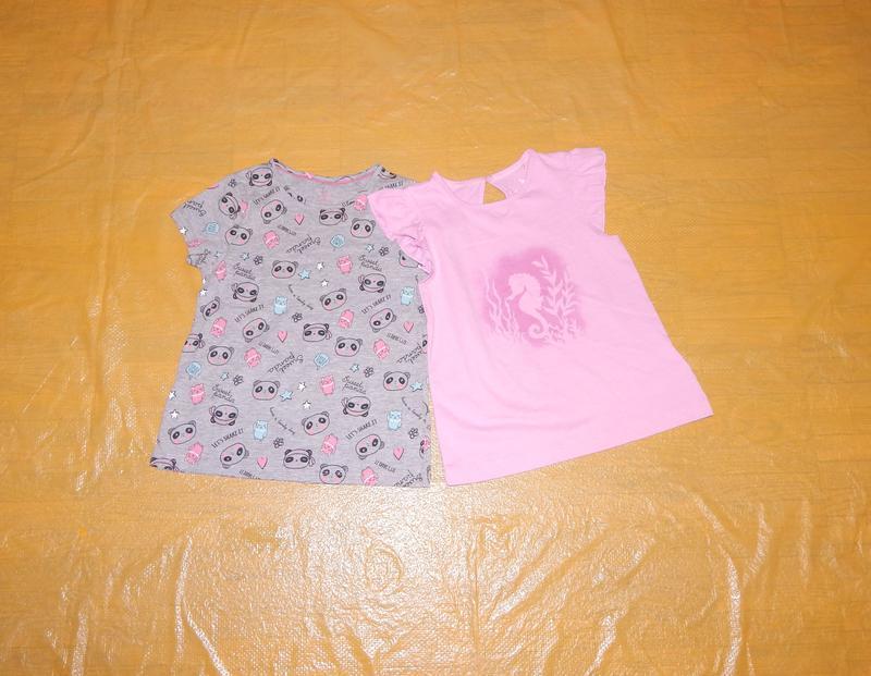 Набор 2 шт! р. 98-104, футболка хлопок lupilu, германия