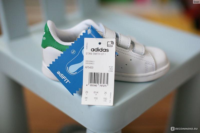 Кроссовки adidas stan smith cf i af5420 - Фото 4