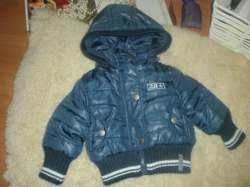 Стильна модна тепла курточка для маленького модника