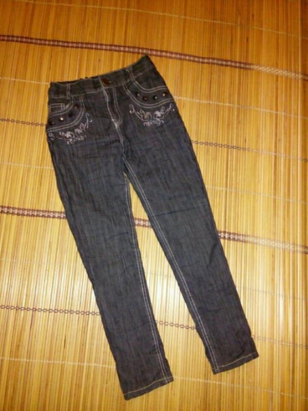Теплые джинсы на девочку 7 , 8 , 9 лет на флисе