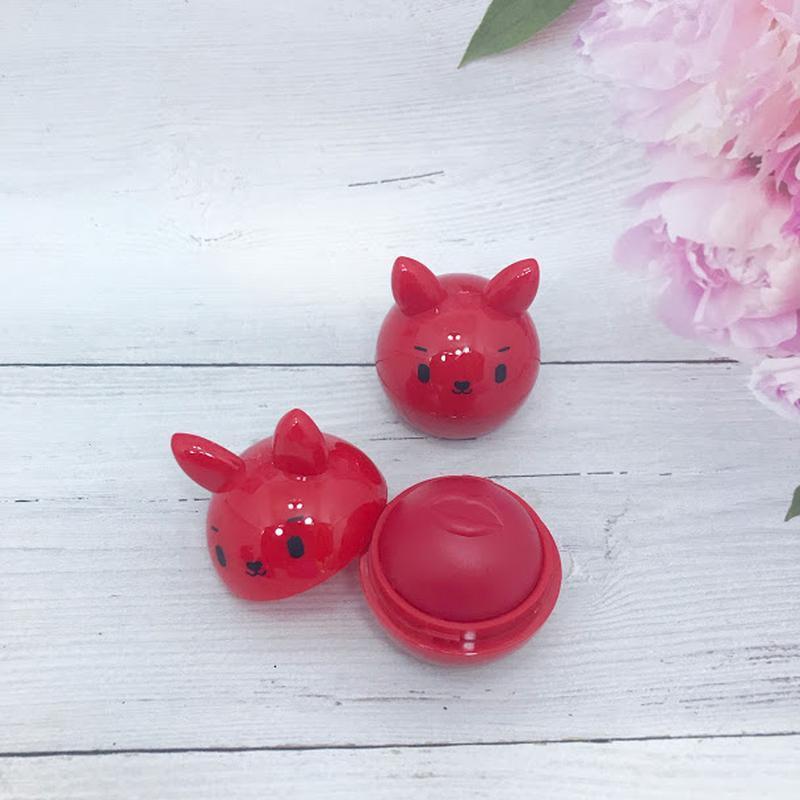Веселенький бальзам-шарик для губ, красный к.4016