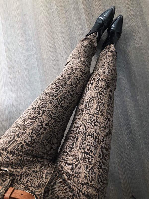⛔✅крутые джинсы звериный змеиный принт стрейч