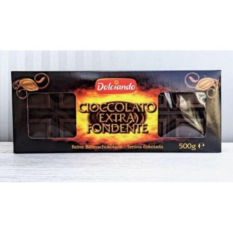 Черный шоколад Dolciando Cioccolato Extra Fondente, Италия, 500г