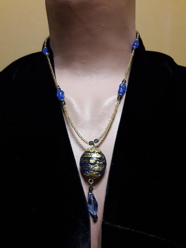 Ожерелье, винтаж, стекло