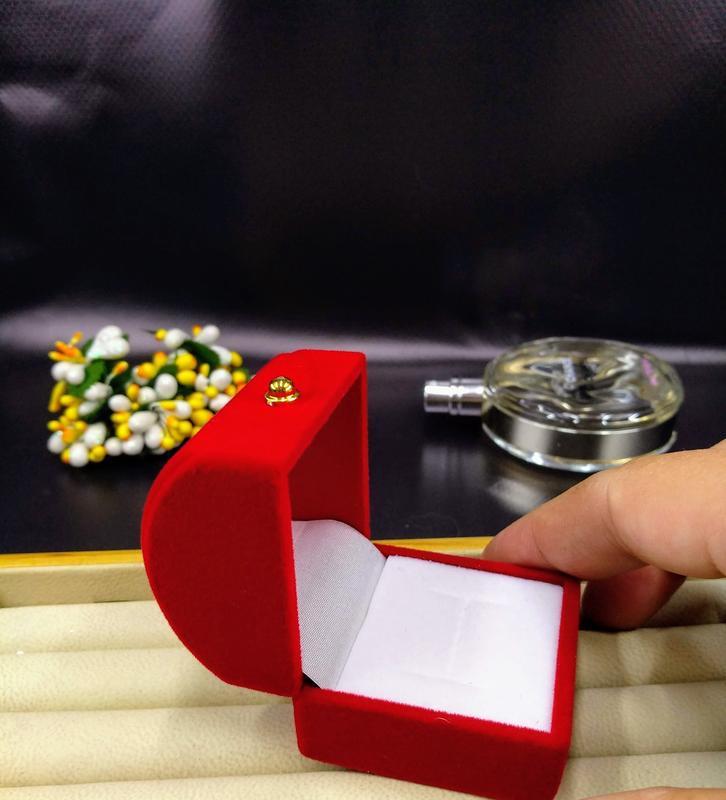 Ювелирная подарочная упаковка футляр для кольца сережек сундук...