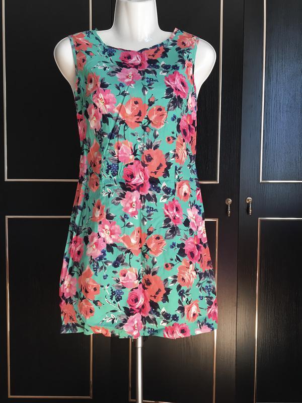 Платье, с цветами, на лето, яркое платье, сарафан
