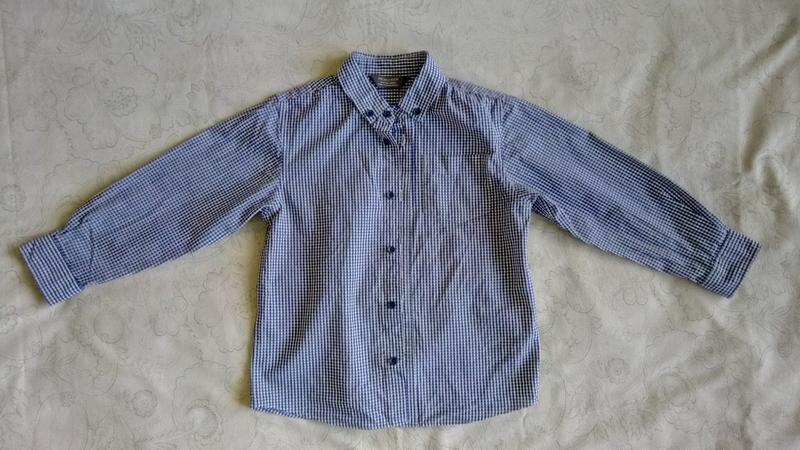 Рубашка primark в мелкую клетку до 104 см