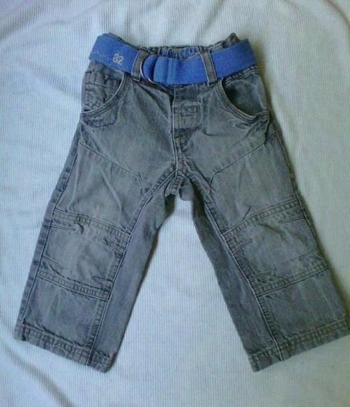 Серые джинсы 12-18 м.