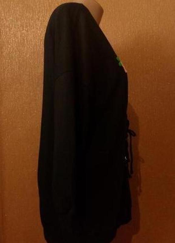 Свитер свитшот оверсайз с вышивкой с завязками размер 8-10 boohoo - Фото 2