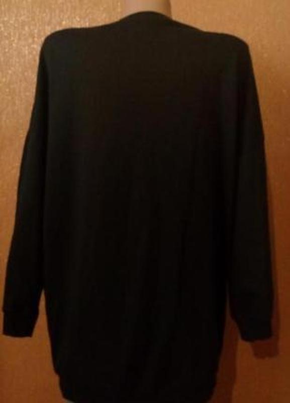 Свитер свитшот оверсайз с вышивкой с завязками размер 8-10 boohoo - Фото 3