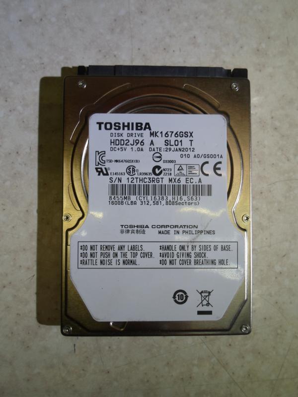 Жёсткий диск, винчестер, HDD, SATA, 160 Гб для ноутбука, 2.5