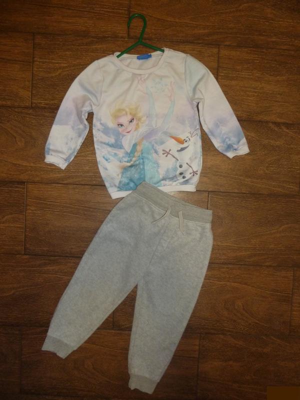 Набор на 2-3 года свитшот с брюками спортивными