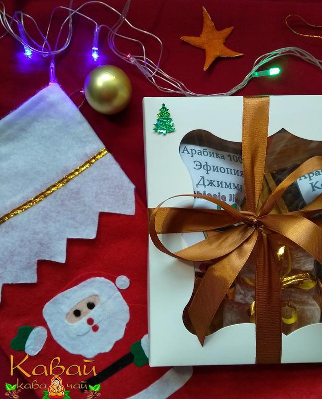 Подарочный набор натурального зернового кофе Арабика100% и лукума - Фото 3