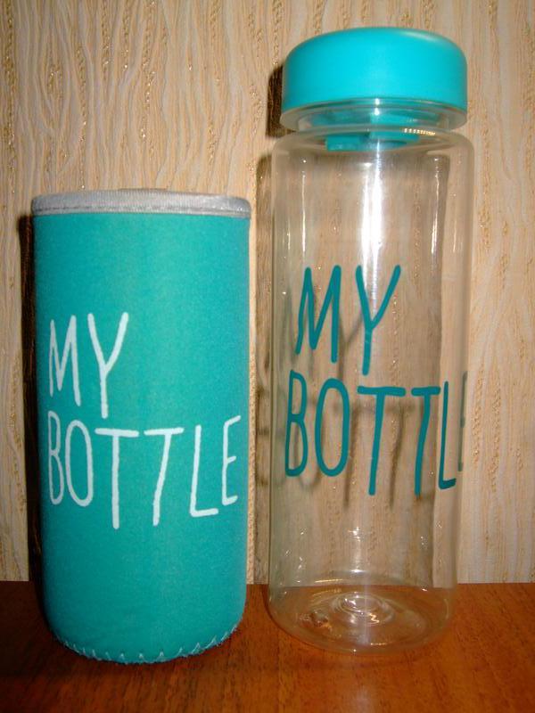 Бутылка my bottle для питья воды и фитнес смесей бирюзовая