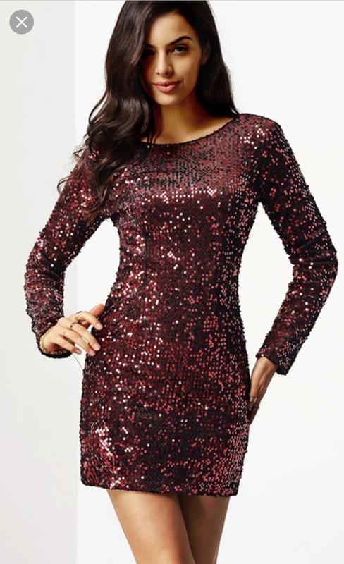 Шикарное новое платье в пайетки размер м - Фото 2