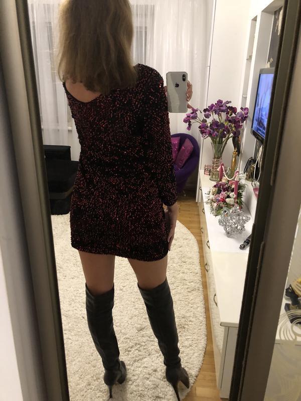 Шикарное новое платье в пайетки размер м - Фото 4