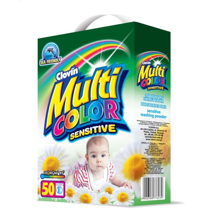 Стиральный порошок Multicolor Sensitive, 5 кг (картон)