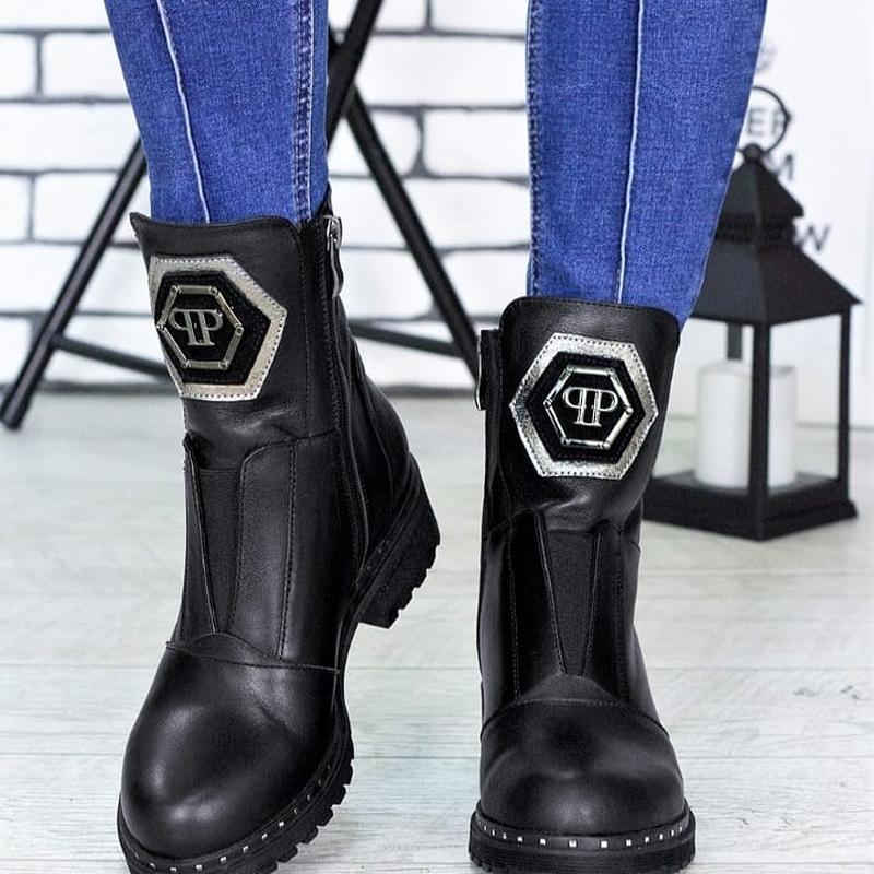 Женские кожаные ботинки - Фото 5