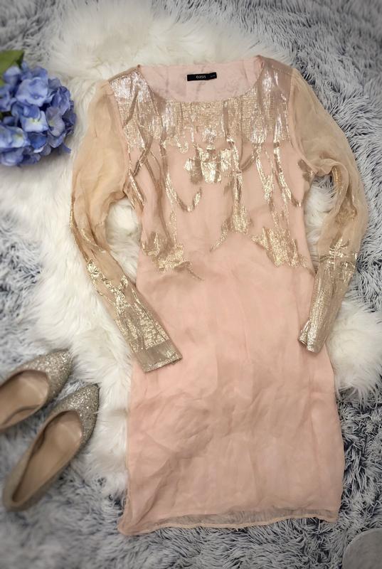 Платье oasis размер м шёлк