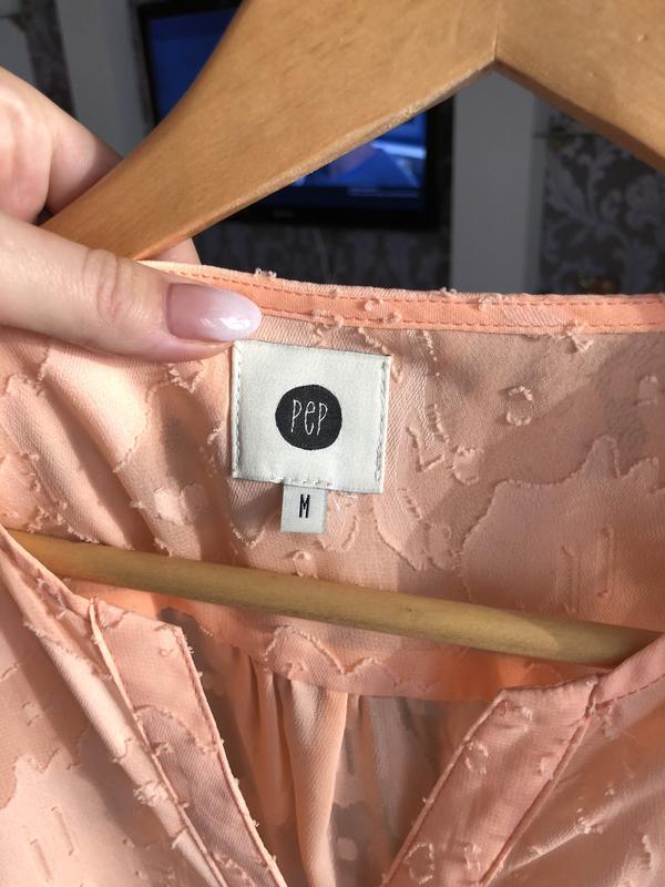 Персиковая блуза размер м (38) - Фото 2