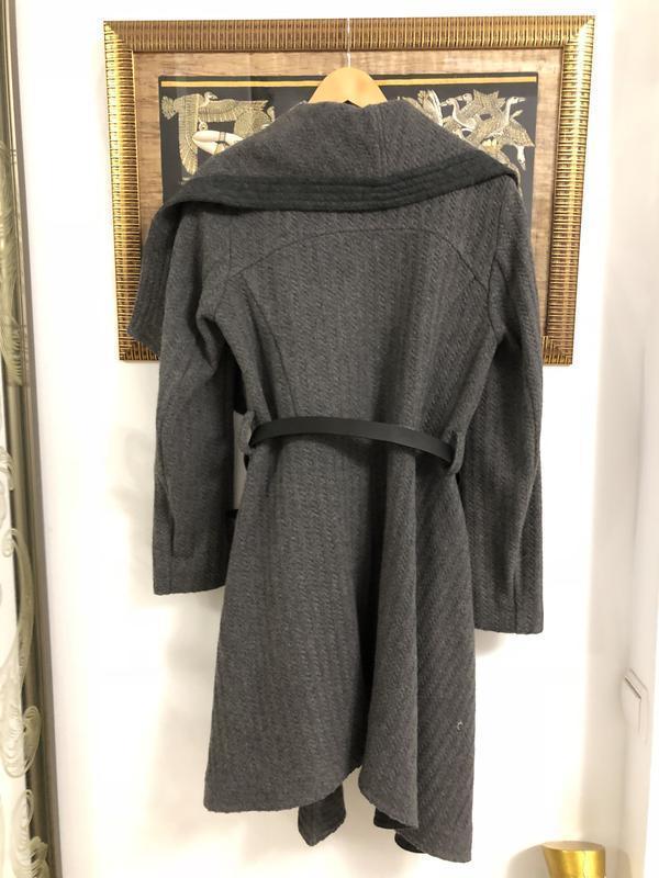 Пальто из англии брэнд oasis размер м натуральная шерсть 40% - Фото 3