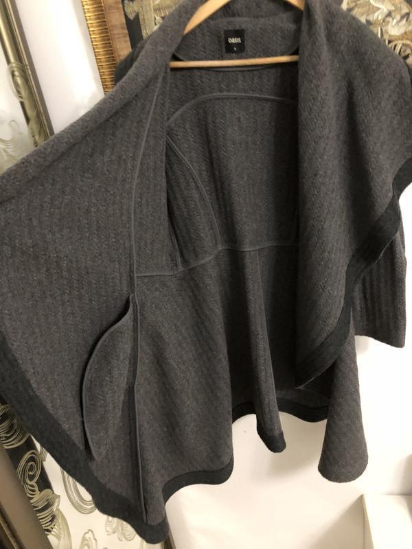 Пальто из англии брэнд oasis размер м натуральная шерсть 40% - Фото 4