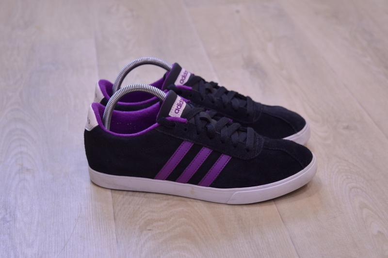 Adidas neo женские кроссовки замша оригинал осень 23.5 см