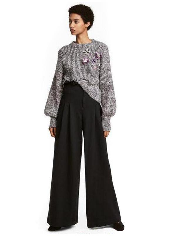 Широкие брюки h&m с высокой талией