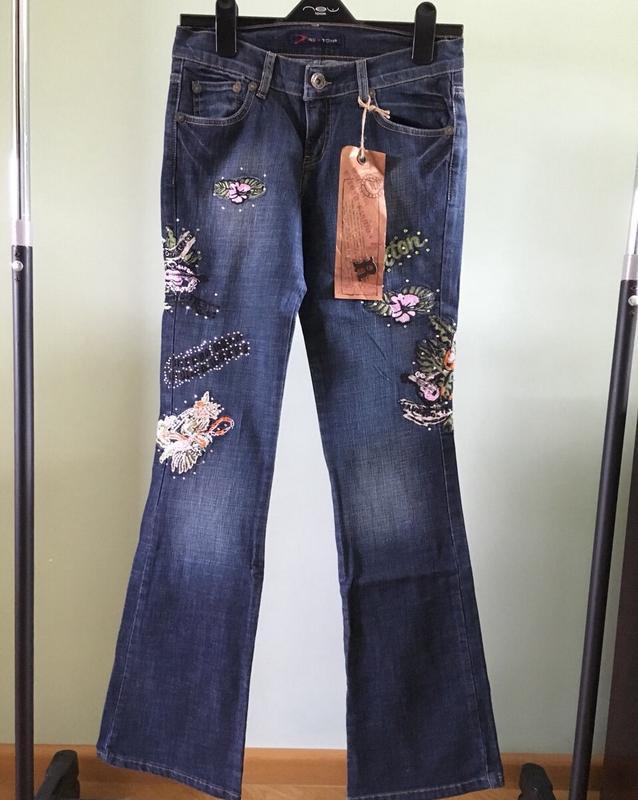 Джинсы rexton женские с вышивкой новые с бирками
