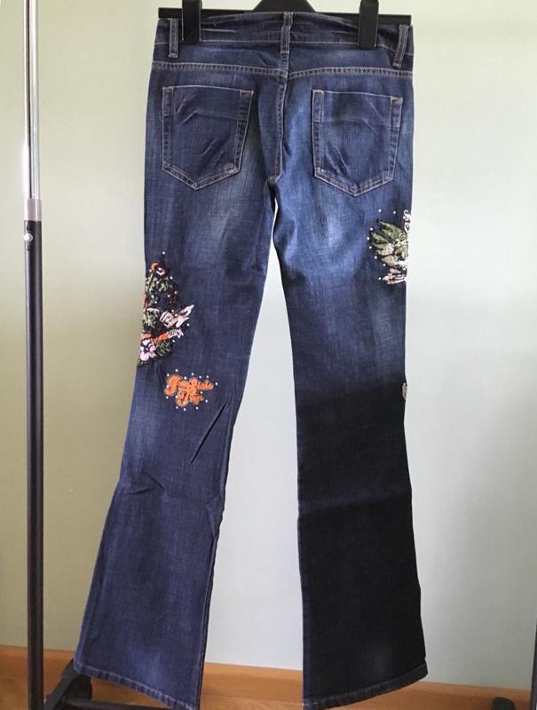 Джинсы rexton женские с вышивкой новые с бирками - Фото 2