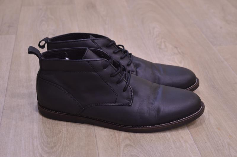 River island мужские ботинки дезерты кожа оригинал