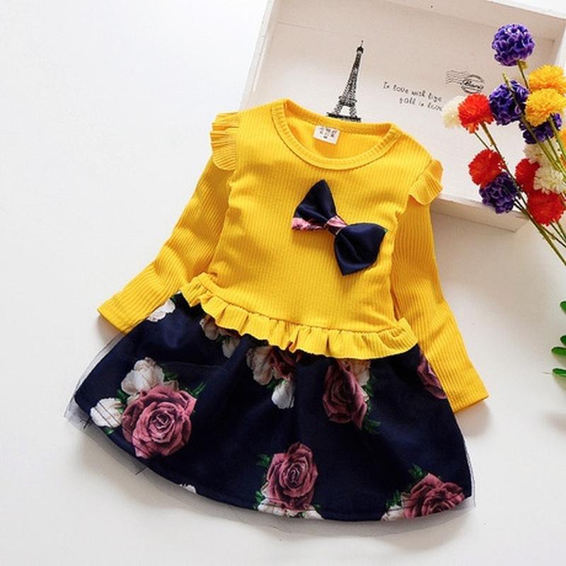 Платье с юбка пачка цветное для девочки