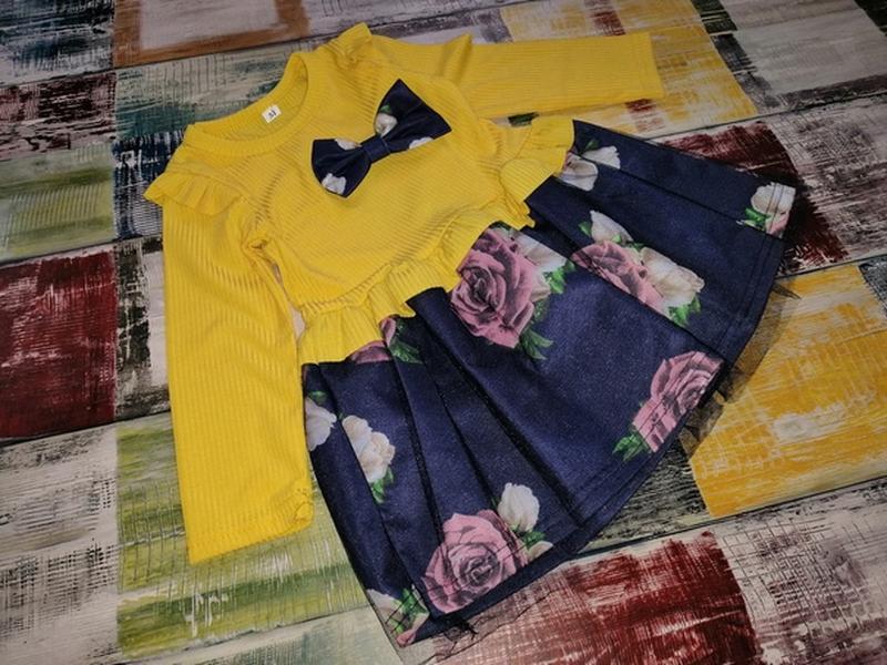 Платье с юбка пачка цветное для девочки - Фото 2