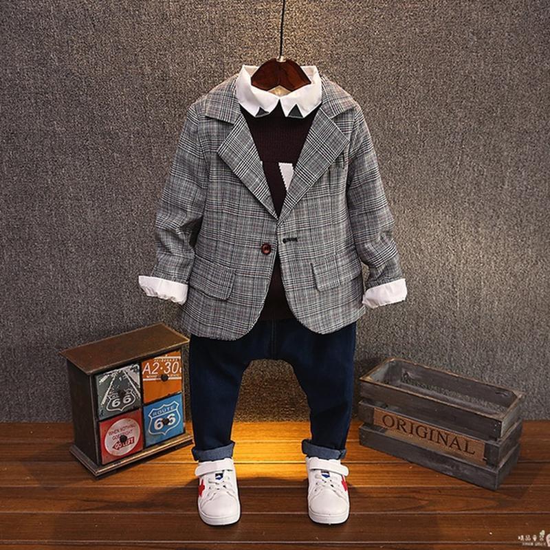 Пиджак в клетку модный унисекс
