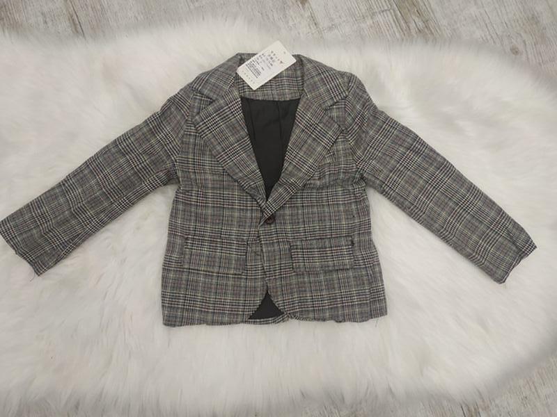 Пиджак в клетку модный унисекс - Фото 2