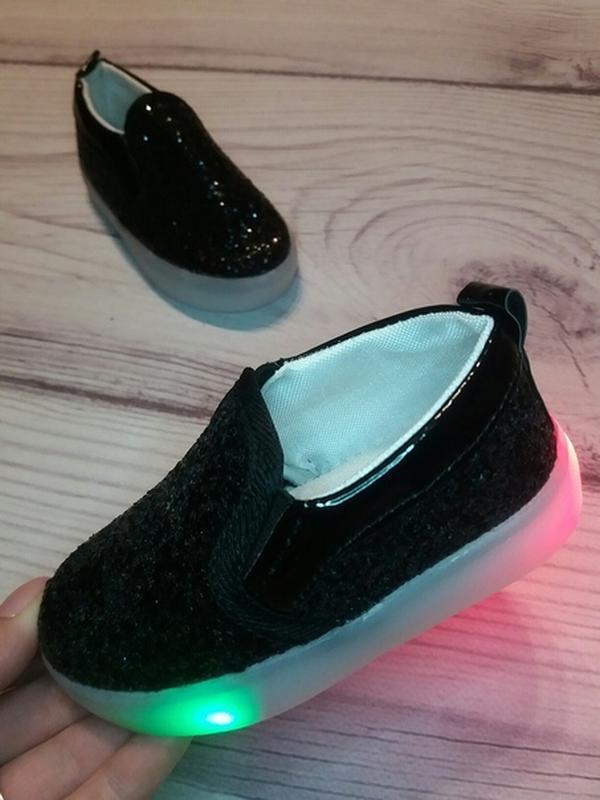 Макасины кеды модные слипоны led - Фото 2