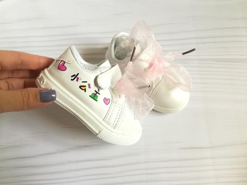 Кеды макасины для маленькой модницы - Фото 2