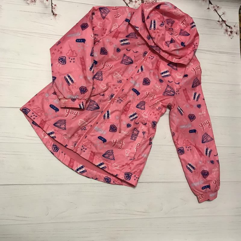 Куртка ветровка на флисе яркая модная от george