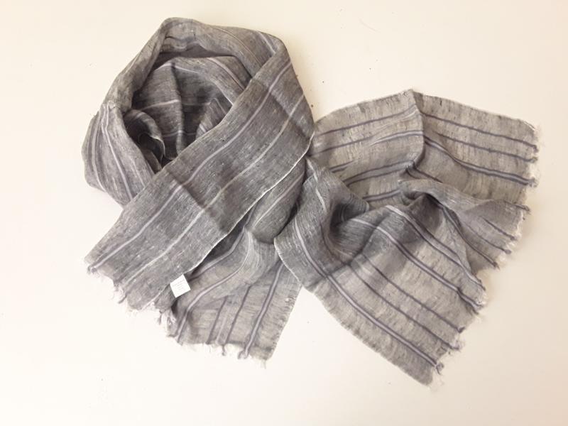 Льняной шарф унисекс