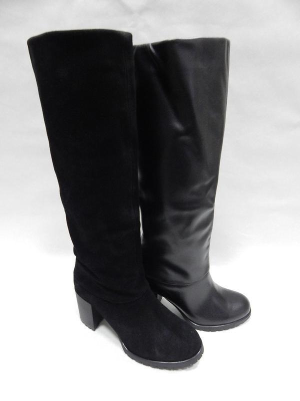 Зимние женские сапоги valiente-venison кожа,замша