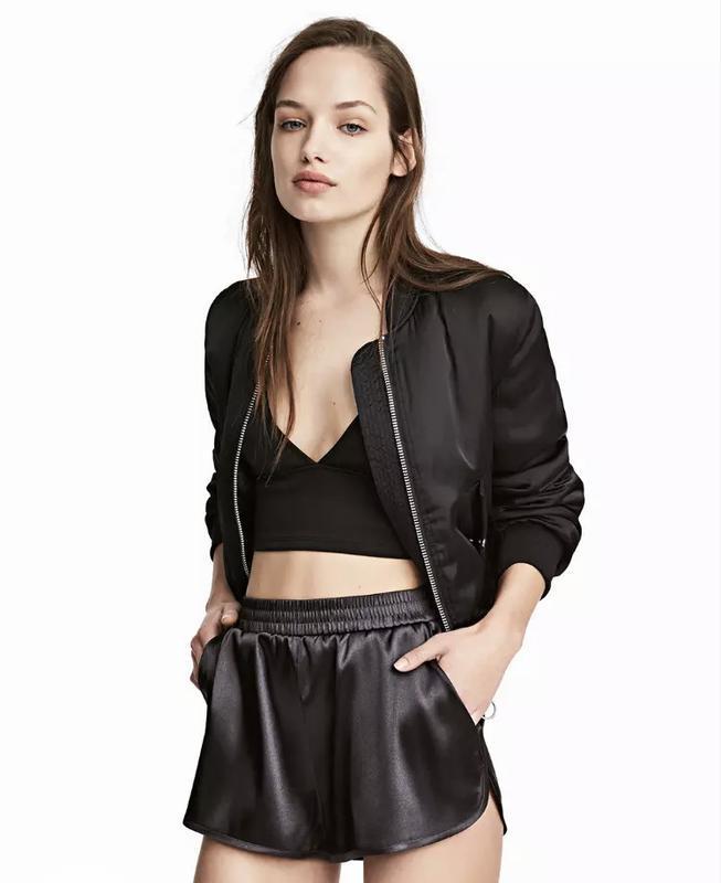Черные классные короткие шорты h&m
